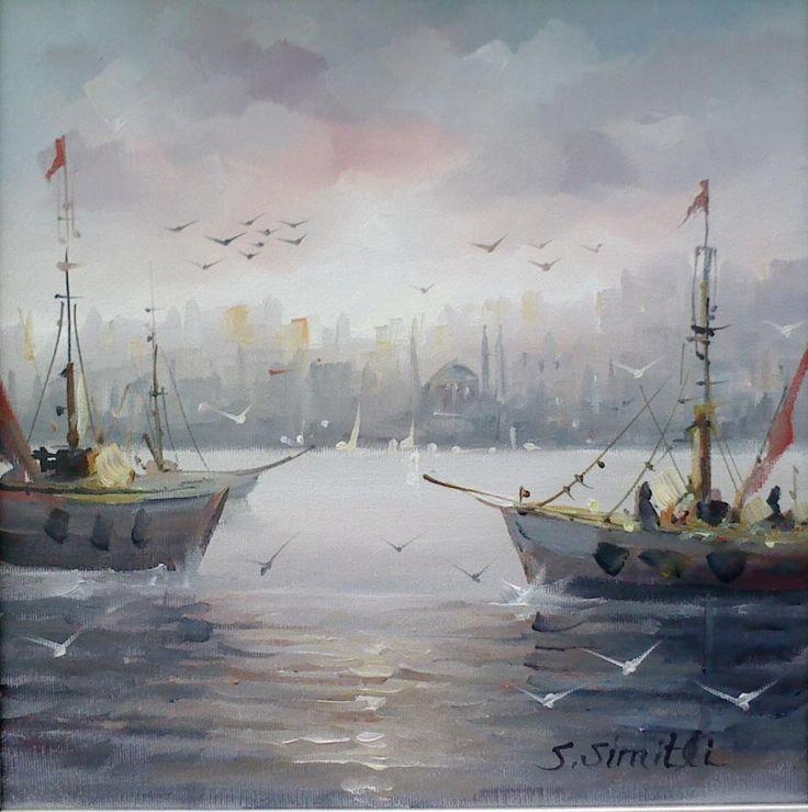"""""""Büyük Usta S.  Simitli ,yi Fayfoncu Ressam olarak tan ı maktay ı z.     Onun son Eserlerinin doyumsuzlu ğ unu siz sanatseverlere s..."""