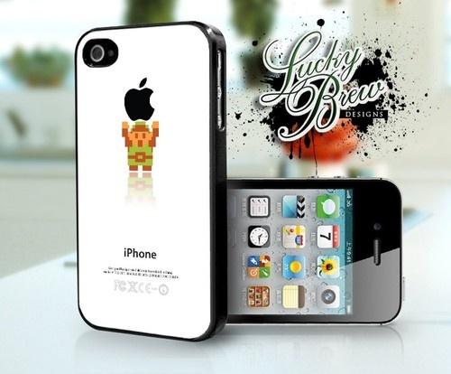 Zelda Video Game iPhone Case Link Holding - Apple Phone 4 4s Hard Case Cover
