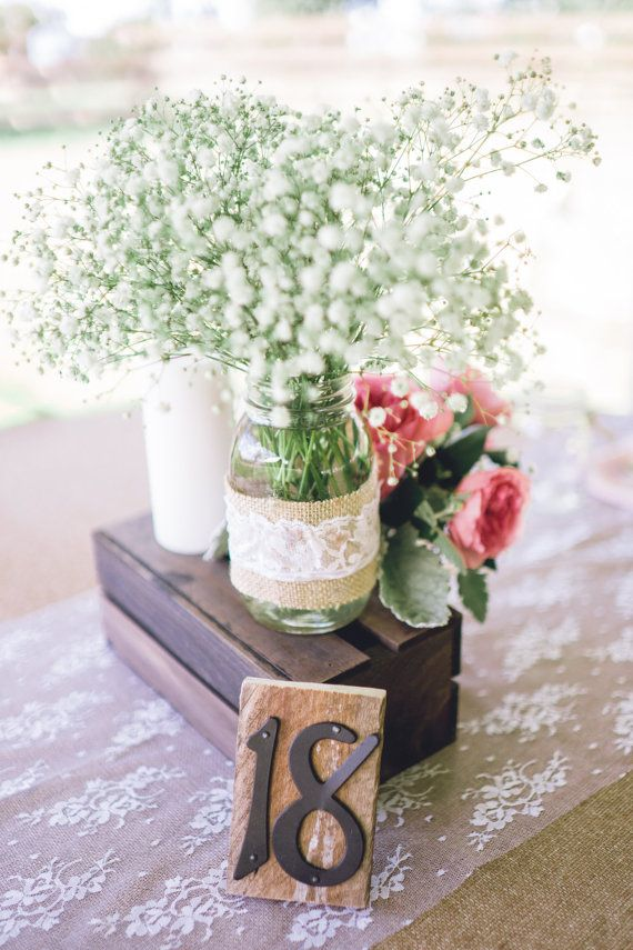 Rustic Wood Table Numbers Rustic Shabby Chic by PineBurlapandLace, $102.00