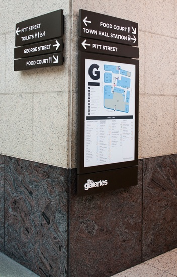 The Galeries Victoria Wayfinding System #wayfinding #signage