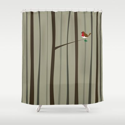 Winter Forest Shower Curtain by Nameless Shame - $68.00