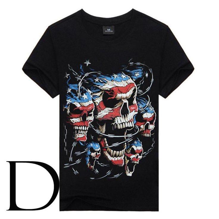 Skull Vintage Variations Men T Shirt Harley Biker Rider Chopper Tees M 3XL | eBay