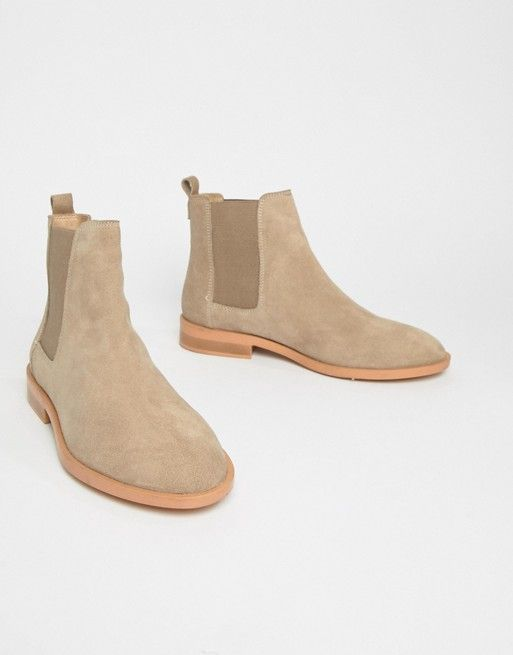 1090e90e5640fe DESIGN Aura suede chelsea ankle boots in 2019