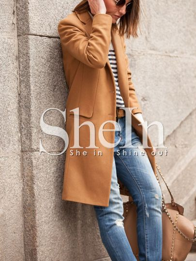 Shop Brown Long Sleeve Lapel Pockets Coat online. SheIn offers Brown Long Sleeve Lapel Pockets Coat & more to fit your fashionable needs.