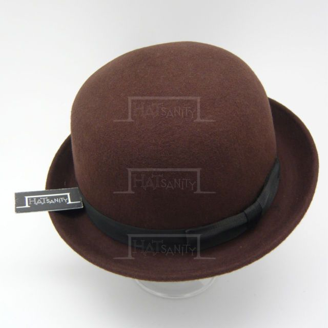 VINTAGE Wool Felt Soft Bowler Derby Top Hat | 57cm | Black Brown Red Green Beige | eBay