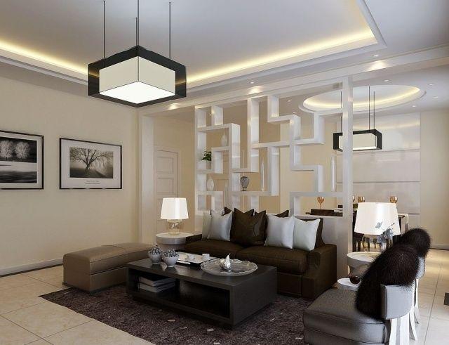Wohnzimmer Leuchte In Grafik Look Trennwand Dekorativ Mit Ablageflche