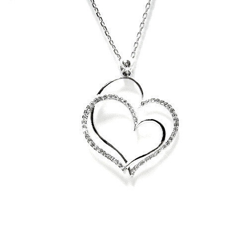 Crystal Heart Necklace Heart Pendant Love by EtsyJewelleryForHer, $38.00