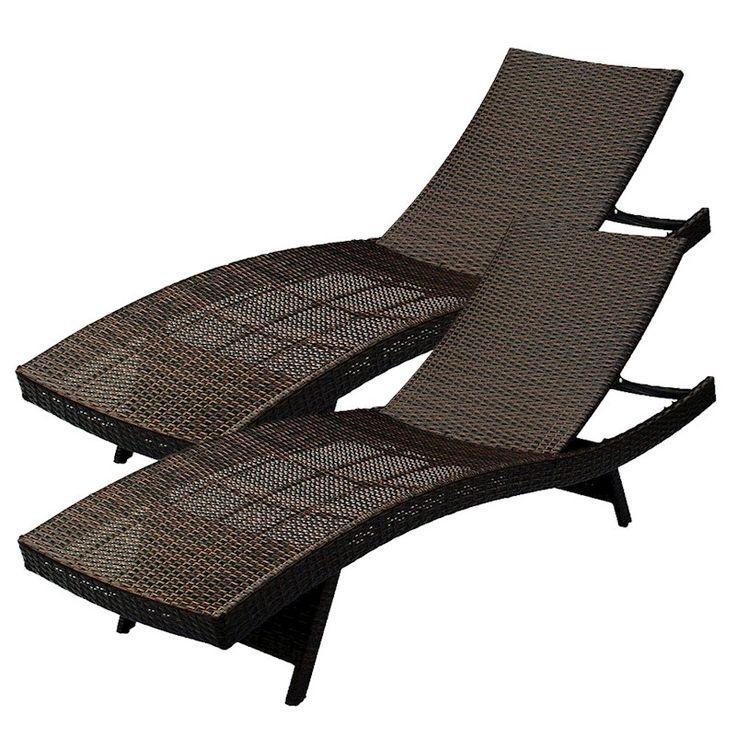 Luxo Palawan Outdoor PE Wicker Twin Pack Sunbeds - Dark ... on Luxo Living Outdoor id=35564