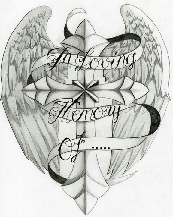 In loving memory tattoo idea