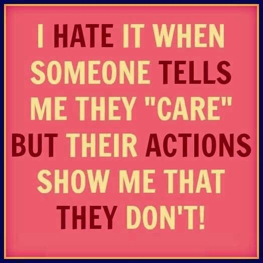 Baby Daddy Drama Quotes | hate it when someone tells me they care but their actions show me ...