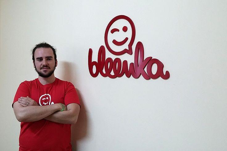 """Se vuoi incontrare nuove persone provare non costa nulla… Segui il consiglio di Andrea, sviluppatore del team di Bleenka. 'Cerca, """"swipa"""" e… bleenka!     #BleenkaBlog"""