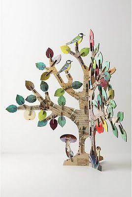 25 enest ende id er inden for cardboard tree p pinterest papir tr og juletr pynt - Maak pool container ...