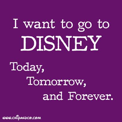 I want to go to Disney everyday.