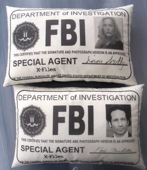 """These handy FBI badge pillows: 