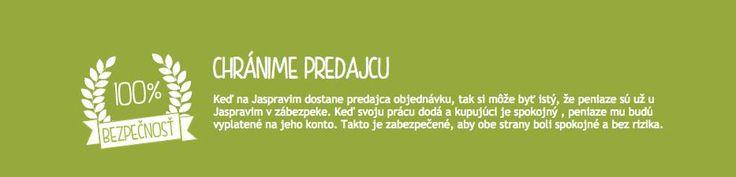 ◄►Záruka bezpečnosti je u nás na prvom mieste. Ako jediný portál na Slovensku poskytujeme 100 % ochranu vyplatenia zárobkov pre predávajúcich.◄► Viac info o ochrane a bezpečnosti pre predávajúcich a kupujúcich tu: http://www.jaspravim.sk/ochrana-a-bezpecnost