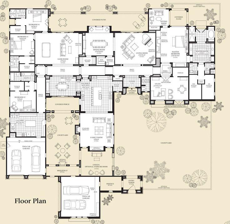 Arizona house floor plans with courtyard for Arizona floor plans