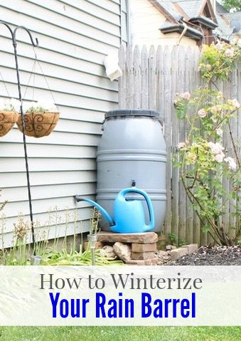 Hello friends. It's Jessica, from Decor Adventures with some easy tips to get your home ready for the cooler months ahead. I'll show you how to winterize your rain barrel, which goes perfectly with Br