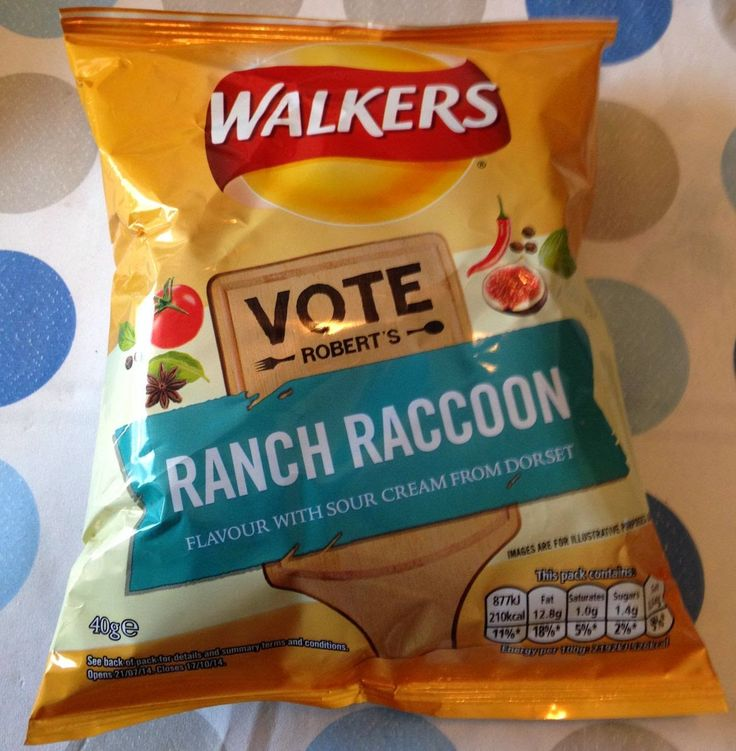 Foodstuff Finds: Robert's Ranch Raccoon Crisps (@Walkers_Crisps) [By @Cinabar]