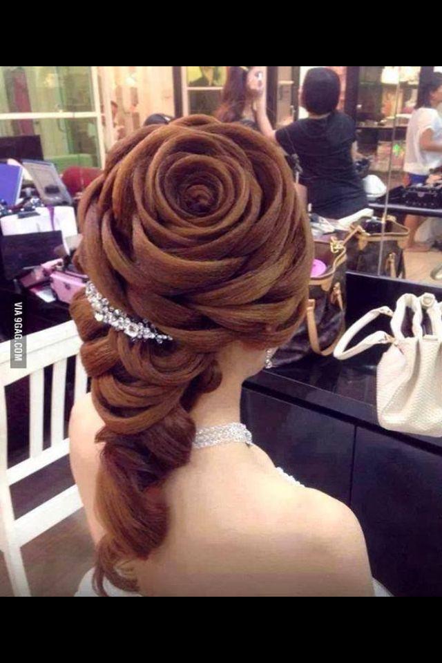 Awe Inspiring Rose Braid Roses And Braids On Pinterest Short Hairstyles Gunalazisus