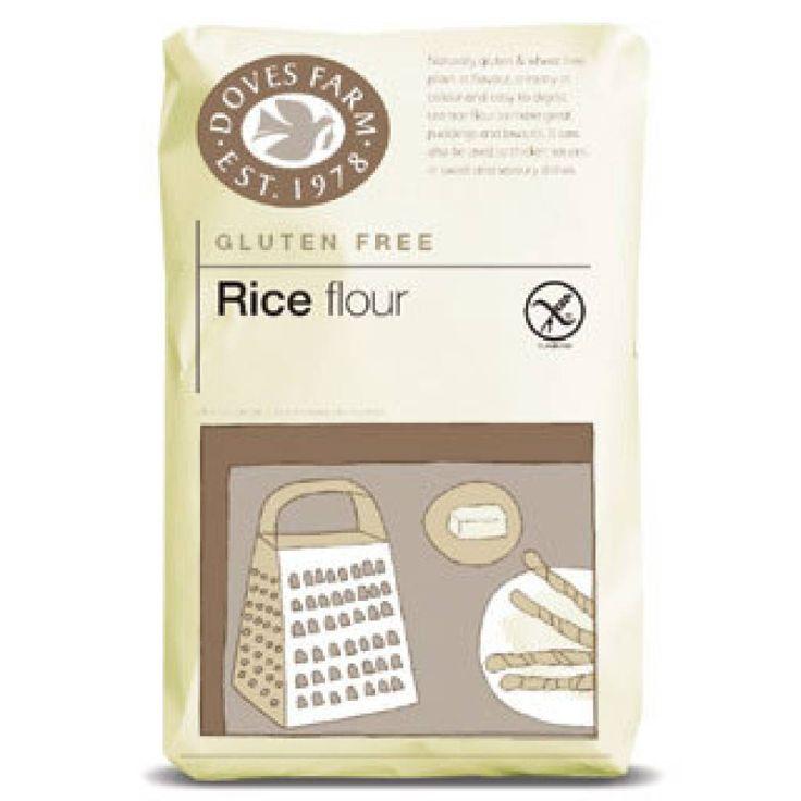 Rijstmeel zonder gluten, 2,89 per 1 kg. Ingrediënten: puur witte en bruine rijstmeel, van het merk Doves_Farm. En nog veel meer glutenvrij dieetvoeding online bestellen