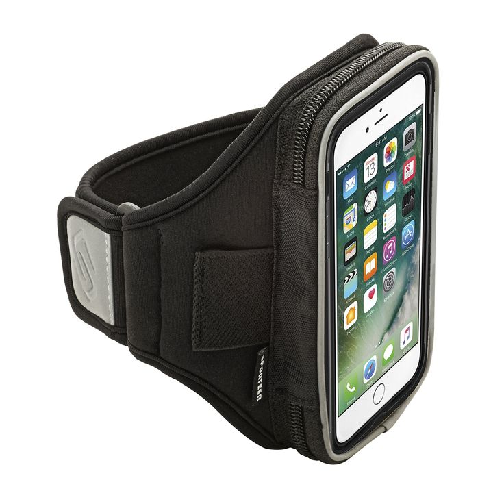 Sporteer Velocity V150 Universal Armband for Smartphones with Cases - Fits All Smartphones/Cases Up to 150mm X 78mm - Strap Size M/L (Black)