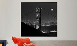 "Groupon - 35""x35"" Moises Levy Black-and-White Photos on Gallery-Wrapped Canvas.  Groupon deal price: $99.99"