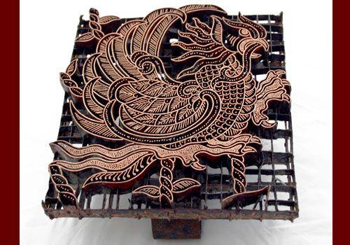 Batik Stamp made in Indonesia.