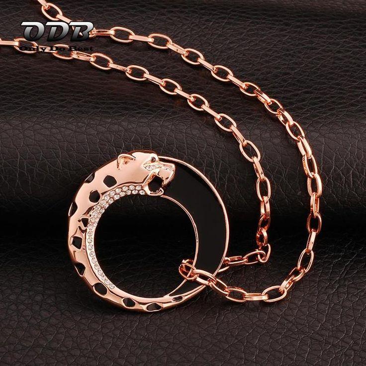 Купить Женщины Ожерелье Yinyang Leopard 18 KRGP 18 К Роуз Позолоченные Дешевые…