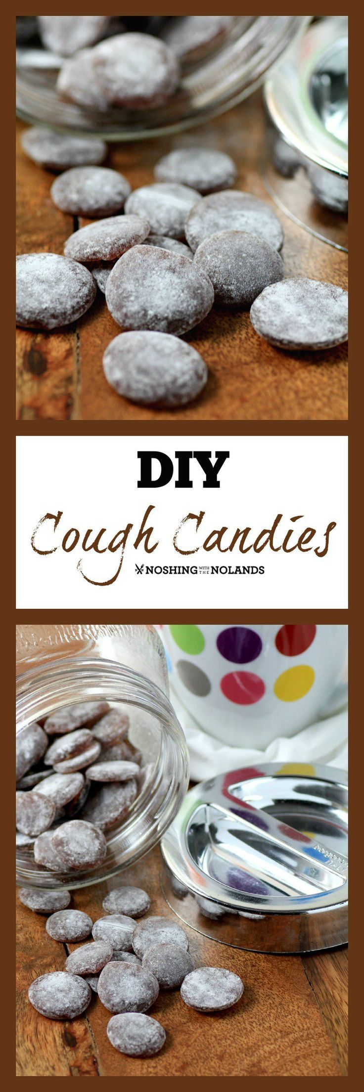 DIY Cough Candies by Noshing With The Nolands are just what you need with cold and flu season upon us. Made with ingredients from your pantry you will feel good giving these to your family.
