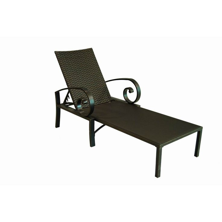 Shop Allen Roth Pardini Sling Seat Aluminum Patio Chaise