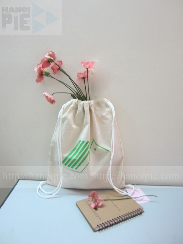 White plain drawstring promotional cotton canvas bag in Vietnam | Website: www.hanoipie.com | Alibaba: http://vn1014973851.trustpass.alibaba.com/ | Email: info@hanoipie.com | New #CottonBag in #Vietnam from #Hanoipie Co. Ltd.