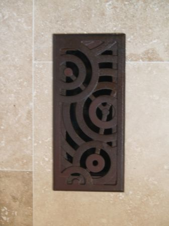 Decorative Cast Iron Register In Oblio Pattern, Inspired By Rain Drops  Hitting Water | Iron