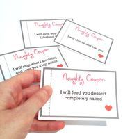 Printable ADULT Naughty Coupon Book pdf file by SpellingBeeCards