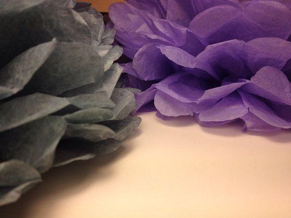 10 Tissue Paper Pom Pom Bridal Shower Decor Pompom by pompomShouse