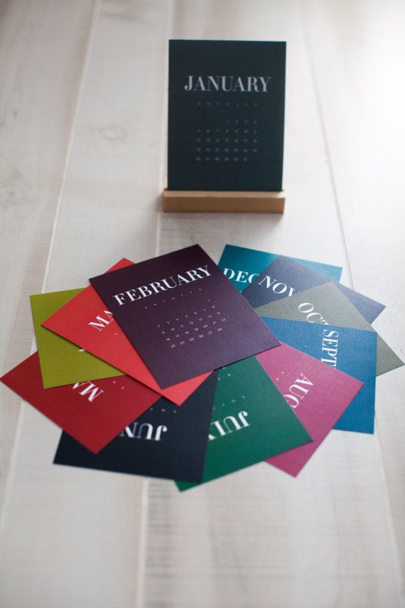 Color Block Desk Calendar by TouiesDesign on Etsy, $22.99