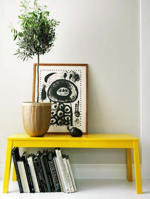 yellow bench #artprint #poster #interior #storage #homedecor