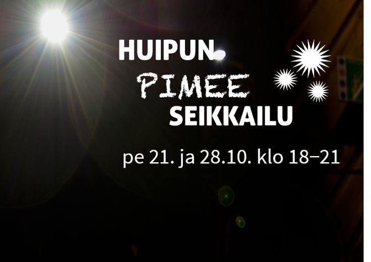Lokakuun 21. ja 28. päivä Seikkailupuisto Huipun radoille pääsee seikkailemaan otsalampun valossa.