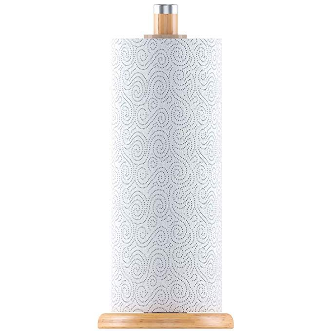 Home Intuition Counter Top Slim Bamboo Paper Towel Holder Review