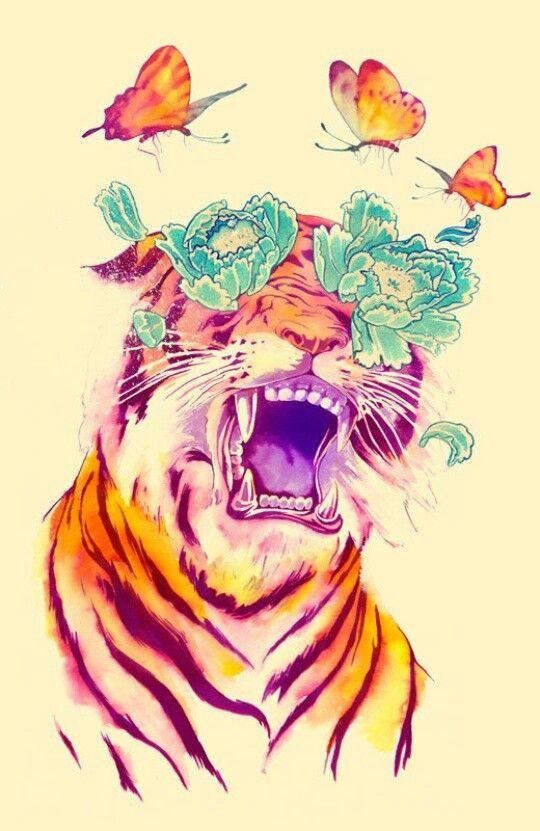 Flowered tiger