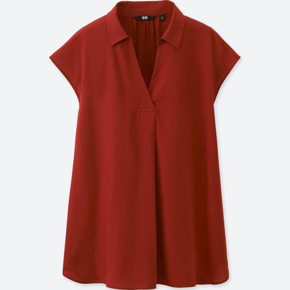 WOMEN Rayon French Sleeve Blouse | UNIQLO