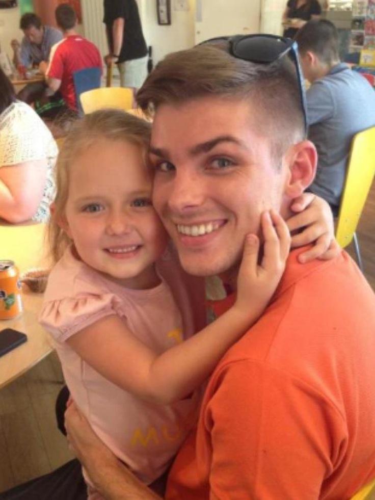 Ela with her on screen dad Ste (Kieron Richardson)