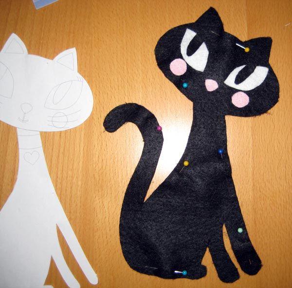 кошка игрушка из фетра