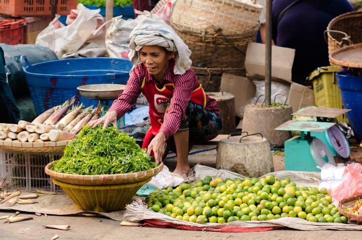 Visiting a market in Luang Prabang, Laos