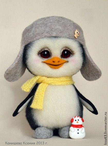 Игрушки животные, ручной работы. Ярмарка Мастеров - ручная работа Пингвинёнок Митяй. Handmade.