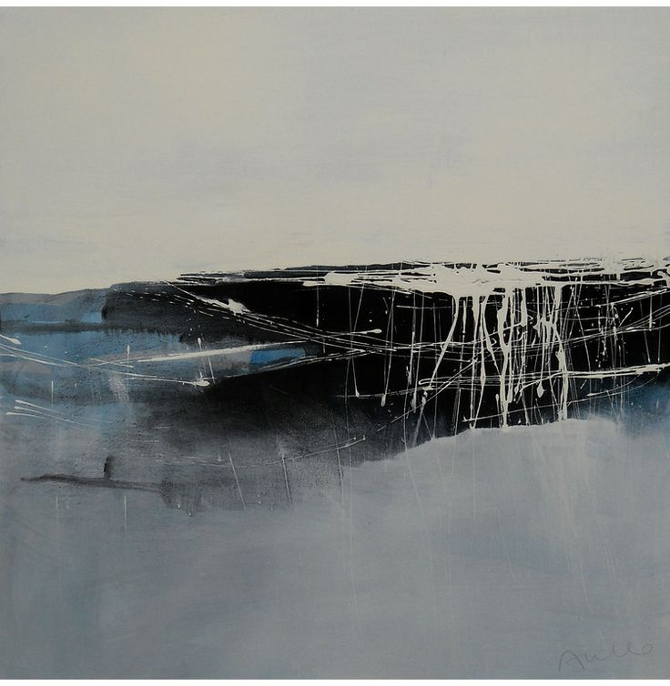 "Saatchi Online Artist: Aiello Sergio; Mixed Media, 2012, Painting ""Crossing the Black: landscape #2"""