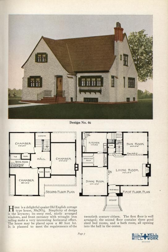 Practical Homes 1926 House Plans Cottage Floor Plans English House