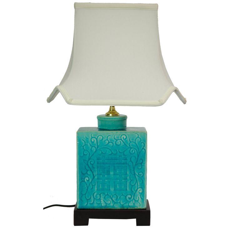 Oriental Furniture 19 Inch Turquoise Lamp - LMP-JCO-X6067