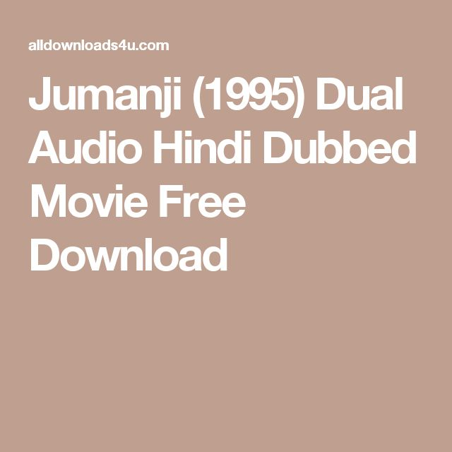 Jumanji (1995) Dual Audio Hindi Dubbed Movie Free Download