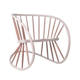 Windsor Rocker by Katie WalkerWindsor Rocker by Katie Walker. Designed by award winning furniture designer, and maker of Prince George's high chair, Katie Walker, the Windsor Rocker is inspired by traditional Windsor chair-making techniques. Featuring the trademark spindles of the Windsor style and an ash frame, steam-bent in two planes to create a strong, organic, flowing piece. The seat of the rocker has a gentle, shaped recess offering a comfortable sit as the frame gently rocks.