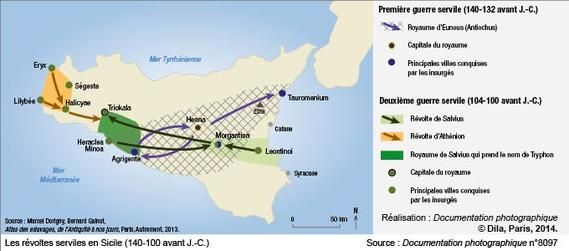 Les révoltes serviles en Sicile (140-100 avant J.-C.)